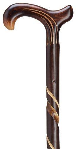 Chestnut Walking Stick - Unisex Derby Cane Natural Chestnut  -Affordable Gift! Item #DHAR-9105500