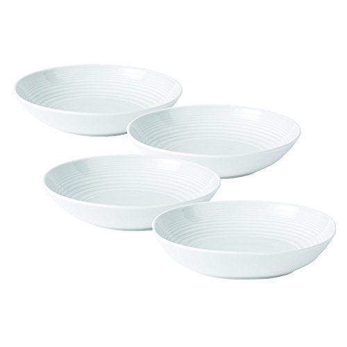 Royal Doulton GRMZWH24387 Maze Open Vegetable/Pasta Bowl (Set of 4), White