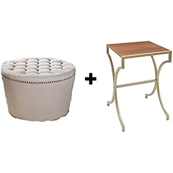 Better Homes And Gardens Stylish And Functional Round Tufted Storage Ottoman With