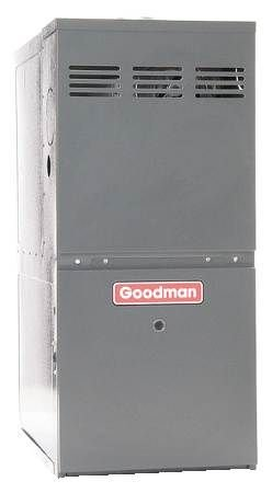 (Goodman GMVC80805CX Gas Furnace, Two-Stage Burner/Variable-Speed Blower, Upflow/Horizontal Low NOx ComfortNET Compatible 80% AFUE - 80,000 BTU )