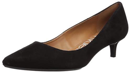 Calvin Klein Women's Gabrianna Pump, Black Suede, 9 M US (Calvin Suede Heels)