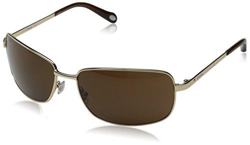 Fossil FOS3025S Rectangular Sunglasses, Light Gold, 62 - Glasses Metal Framed
