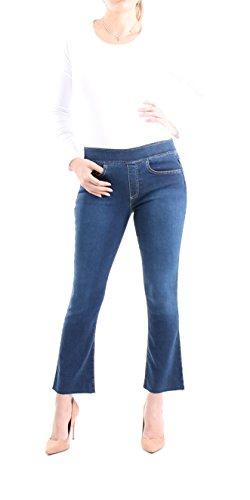 Indigo Society Women's Mid Rise Crop Mini Flare Jean