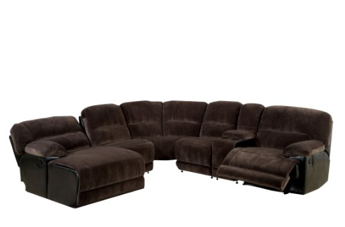 Furniture America Microfiber Sectional Recliners Features