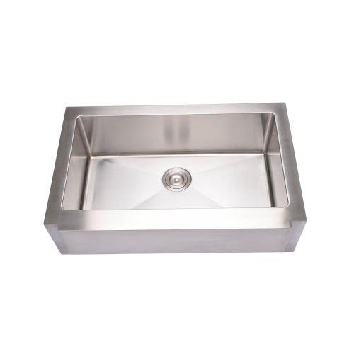 Miseno MSS3320NF 33'' Single Basin 16-Gauge Stainless Steel Kitchen Sink for Farm, 16 Gauge Stainless Steel