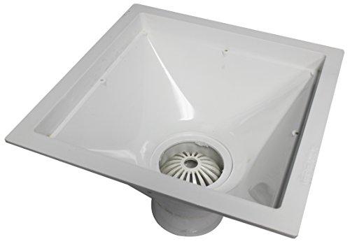 Endura 394723 12-Inch by 12-Inch by 6-Inch PVC Floor Sink for Standard Floor with 3-Inch Hub by Endura