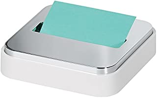 Post-it Dispenser Sticky Dispenser, White & Silver, Easy One Handed Dispensing (STL-330-W)