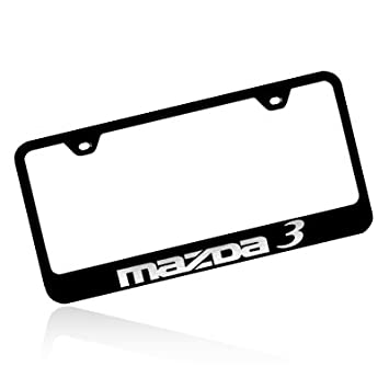 mazda 3 black stainless steel license plate frame