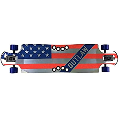 """Beercan Boards Oat Soda 42"""" DPT Patriot Outlaw Flag Aluminum Skateboard : Sports & Outdoors"""
