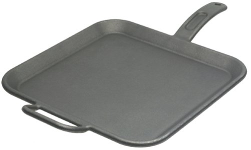 (Lodge 12-Inch Square Breakfast Griddle with Assist Handle)