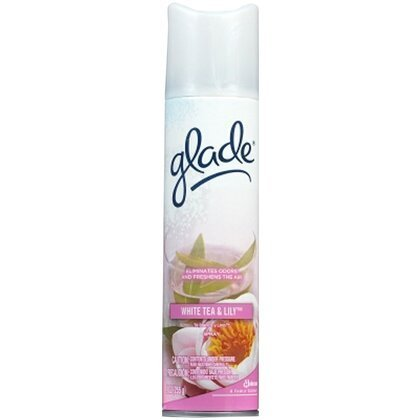 - Glade Air Freshener Aerosol Spray-White Tea & Lily-9 oz (Quantity of 5)