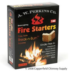 AW Perkins Fire Starters - 144 Squares Per Box from A.W. PERKINS CO