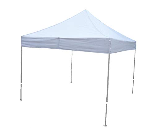 Formosa Covers 10ftx10ft Replacement Canopy with one detachable Sign display panel in White (Top Only) For Sale