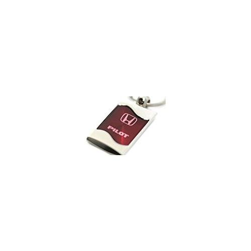 DanteGTS Honda Pilot Logo Rectangular Wave Key Chain Burgandy