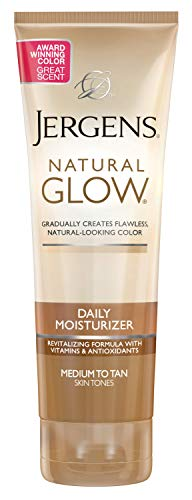 Jergens Natural Glow Daily Moisturizer, Medium to Tan Skin Tones, 7.5 Ounce