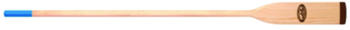 7.5' Crooked Creek Natural Finish Wood Oar with Comfort Grip