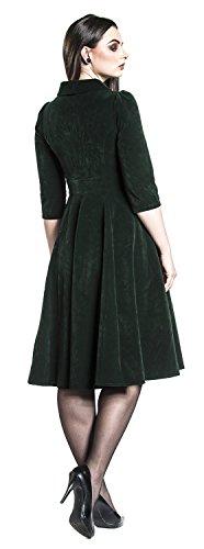 H&R London Glamorous Velvet Tea Dress Kleid Dunkelgrün Dunkelgrün JfwiF4Qe