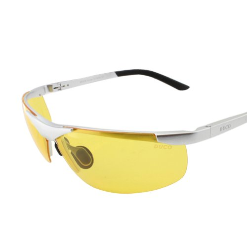 Duco Night-vision Glasses Anti-glare Driving Eyewear Polarized Glasses 6806 (Silver, - Glasses Polarized Check Are If