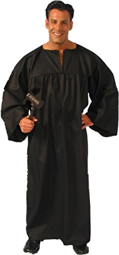 Alexanders Costumes Men's Judges Robe, Black, One Size (Judge Robes Costume)