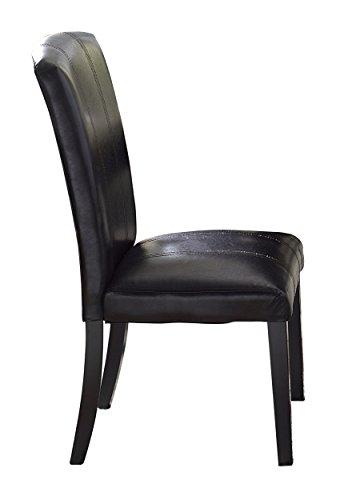 - Homelegance 5070S Bi-Cast Vinyl Upholstered Side Chair, Dark Brown, Set of 2