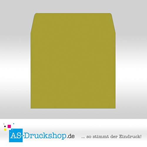 Briefumschlag - Limone - Samt satiniert Quadrat - - - 160 x 160 mm   50 Stück B0794X6LFD   Großhandel  50f6a5
