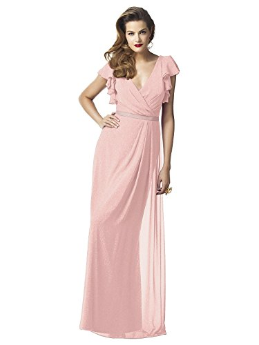 (Dessy Collection Bridesmaid Dress Style 2874 - Rose Gold - Size 10)
