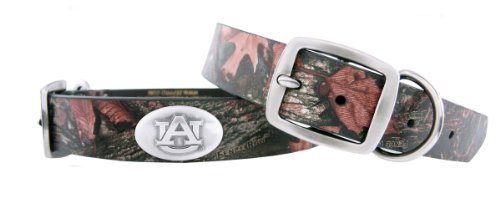 Zep-Pro Auburn Tigers Camouflage Leather Concho Dog Collar, Large