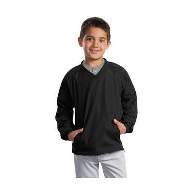 Sport-Tek Boys V-Neck Raglan Wind Shirt