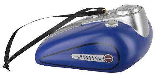 HARLEY-DAVIDSON Blue Gas Tank Polyresin Ornament - 3.5 x 2 inches HDX-99163 (Tree Davidson Harley Christmas)
