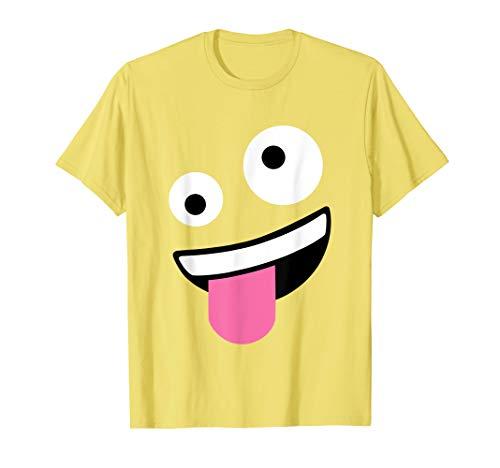 Wacky Emoji Face Halloween Costume T-Shirt ()
