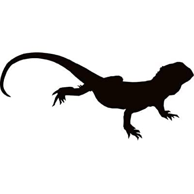 "Amazon.com: Australian Bearded Lizard Silhouette - 18""W x"