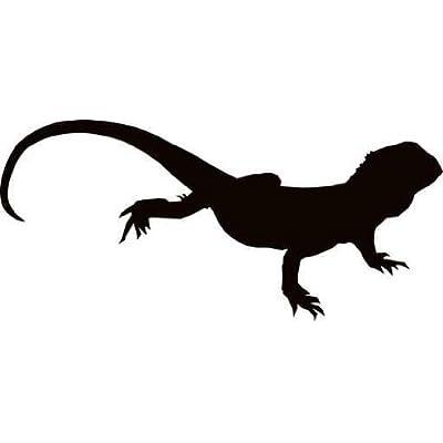 """Amazon.com: Australian Bearded Lizard Silhouette - 18""""W x"""