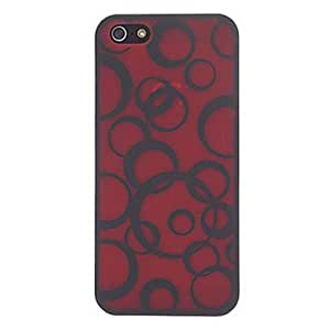Mini - Black Circles Pattern Protective Hard Case for iPhone 5/5S - Color , Green