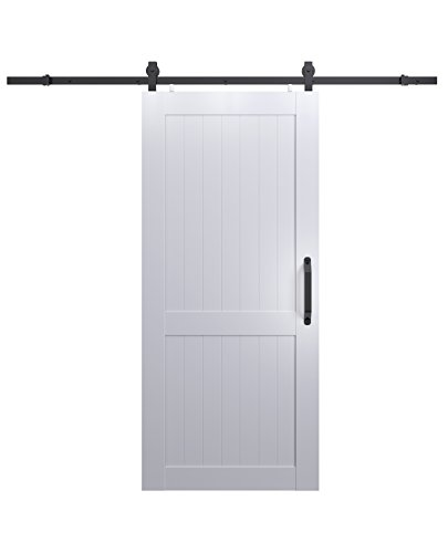 LTL Home Products MLB3684HKD Millbrooke Ready to Assemble DIY PVC Barn Door Kit, 36 x 84 Inches, White