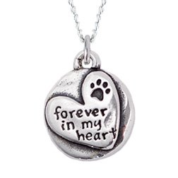 Rockin Doggie Sterling Silver Necklace, Forever in My Heart by Rockin Doggie