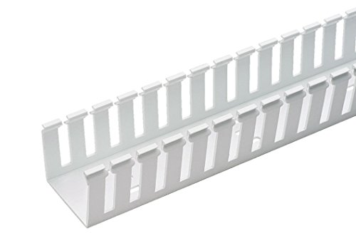 - Panduit G1X1WH6 Type G Wide Slot Wiring Duct, PVC, White