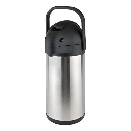 Thunder Group 2.5 Liter (84 oz.) Lever Top, Stainless Steel Body Airpot   Model No. ASLS025 - Silver