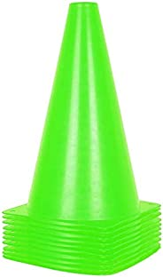 Alyoen 9 inch Traffic Cones - 10 Pack Soccer Training Cones for Outdoor Activity & Festive Events (Set of