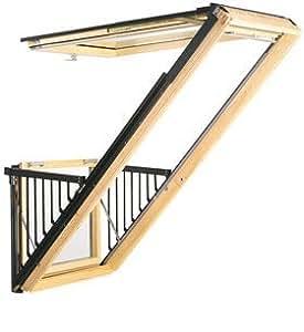 "VELUX GDL P19 3073 Skylight Balcony Roof Window, 37 1/16"" W x 99 1/4"" H Cabrio Series Laminated Glass/Aluminum Frame"