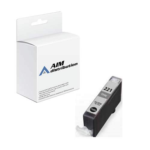 AIM Compatible Replacement for Canon CLI-221GY Gray Inkjet (2950B001) - Generic