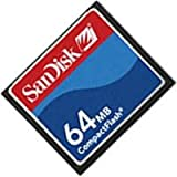 64MB Sandisk CF (Compact Flash) Card SDCFB-64 or SDCFJ-64 (CAZ)
