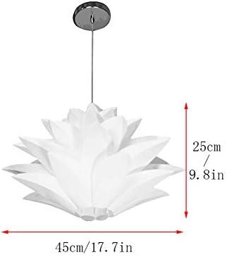 Lustre Lotus,Abat-jour bricolage Puzzle Puzzle Abat-jour avec montage au plafond E27 Montage Anneau /à vis puzzle Puzzle Plafonnier Fleur de Lotus pour cuisine Salle /à manger Loft Coffee Bar