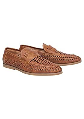 Tarocash Men's Harry Slip On Shoe Tan 13 Footwear Sizes 7-13 for Going Out Smart Occasionwear