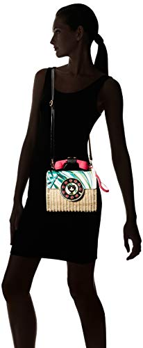 Print Palm Multi Phone Betsey Johnson womens Wicker Bag xOTc87n
