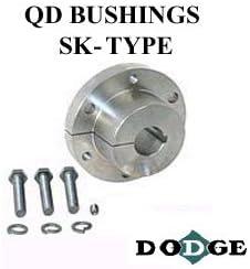 32 mm Bore 120116 Quick Disconnect Bushing Steel 10 x 3.3 mm Keyway SK Bushing Baldor Finished w//Keyway SK 32 mm Dodge