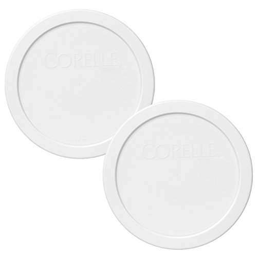Corelle 428-PC 28oz 6.5 Round White Plastic Lid - 2 Pack
