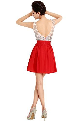 Ivydressing - Vestido - trapecio - para mujer Rojo