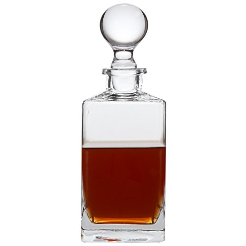 Lily's Home Wine, Liquor and Whiskey Decanter with Glass Stopper. 32 Oz. ()