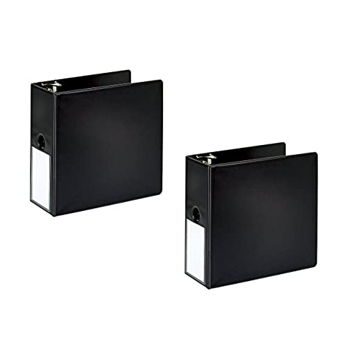 2 office depot brand durable slanted d ring binders w label