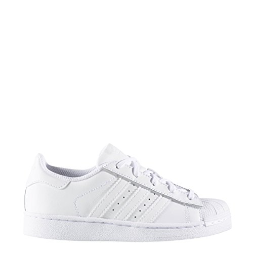 - Adidas Kids' Superstar Foundation EL C Sneaker, White/White/White, 11.5 M US Little Kid